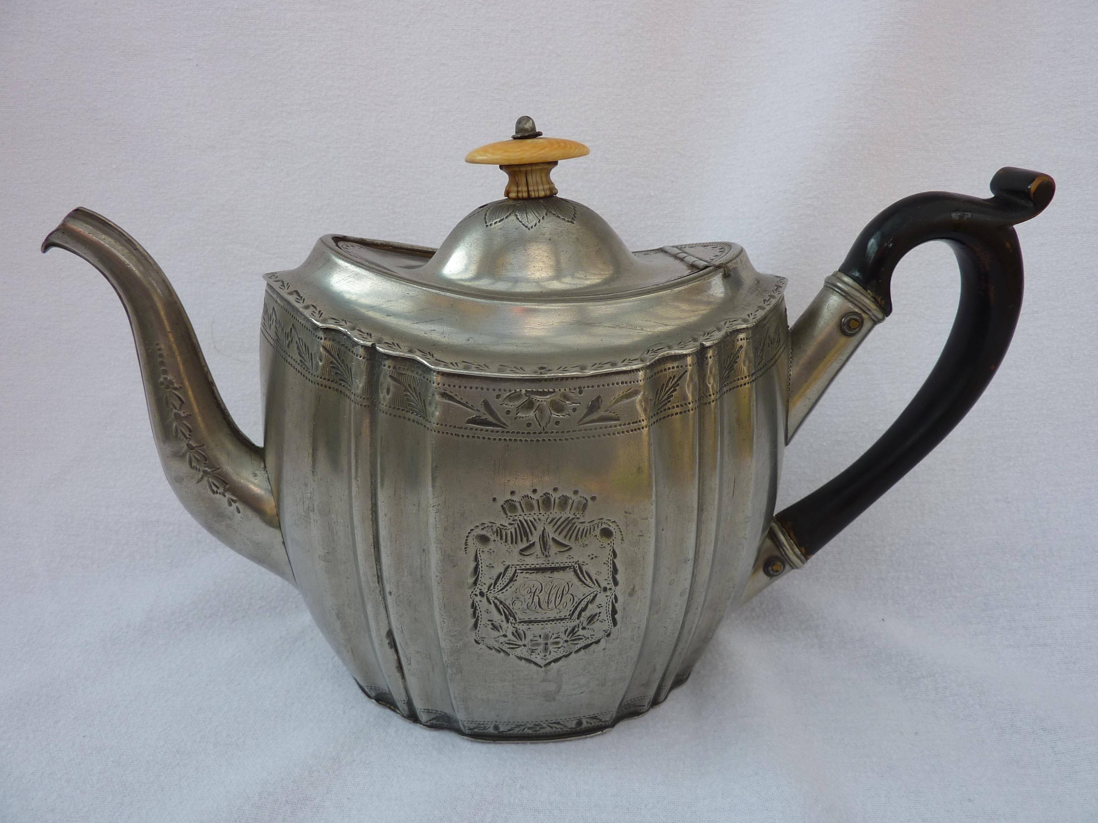 Britannia Metal Teapot Antique
